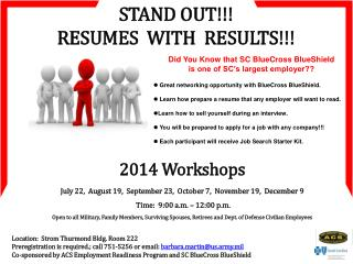 STAND OUT!!! RESUMES  WITH  RESULTS!!!