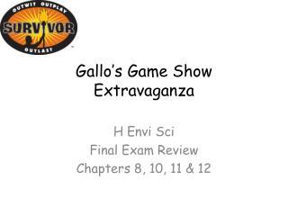 Gallo's Game Show Extravaganza