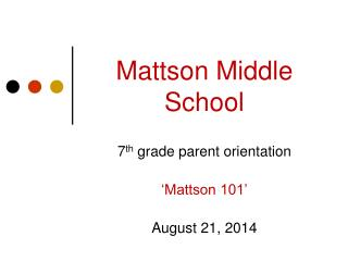 Mattson Middle School