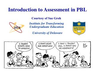 Introduction to Assessment in PBL