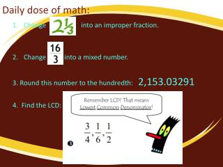 Daily dose of math: