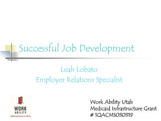 Successful Job Development
