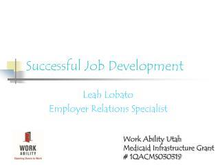 Successful Job Development