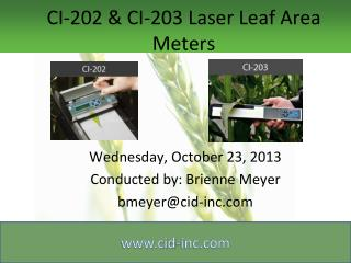 CI-202 & CI-203 Laser Leaf Area Meters