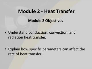 Module 2 - Heat Transfer