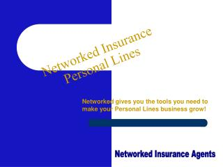 Networked Insurance Personal Lines