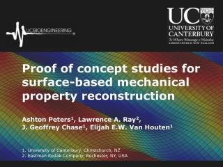 Proof of concept studies for surface-based mechanical property reconstruction