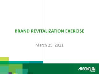 Brand Revitalization Exercise