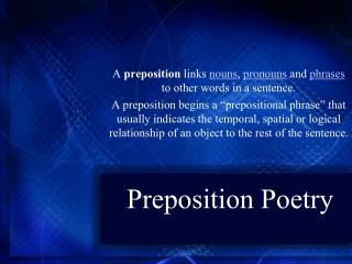 Preposition Poetry