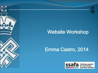 Website Workshop Emma Castro, 2014