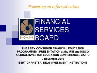 FINANCIAL SERVICES  BOARD