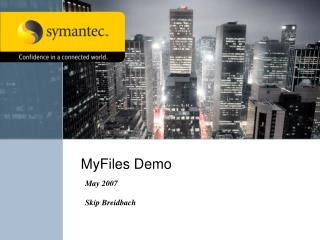 MyFiles Demo