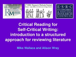 Critical Reading for Self-Critical Writing: