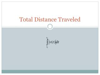 Total Distance Traveled