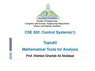 Prof. Wahied Gharieb Ali Abdelaal