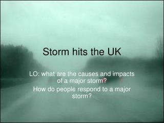Storm hits the UK