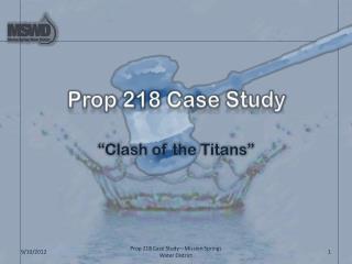 Prop 218 Case Study
