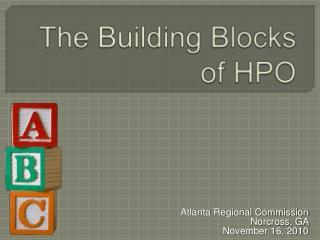The Building Blocks of HPO