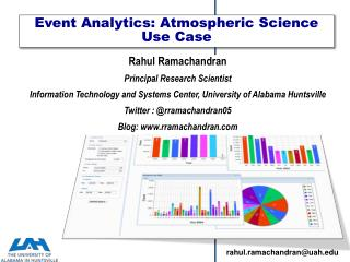 Event  Analytics: Atmospheric Science Use Case