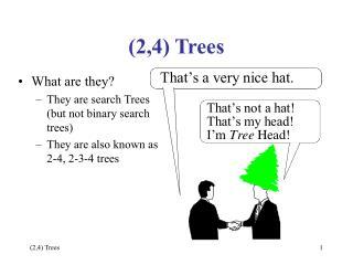 (2,4) Trees