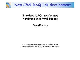 New CMS DAQ link development