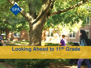Looking Ahead to 11 th  Grade Spring, 2014