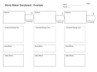 Movie Maker Storyboard - Example