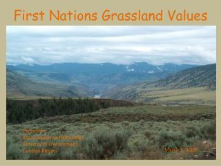 First Nations Grassland Values