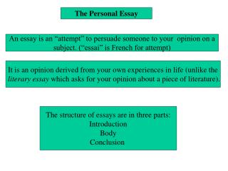The Personal Essay