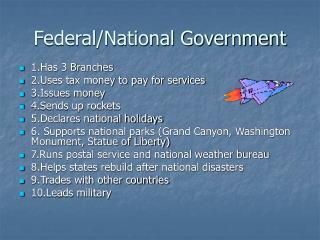 Federal/National Government