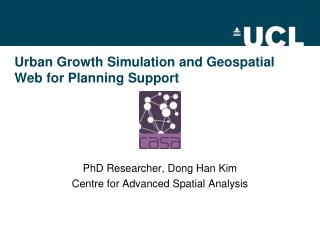 Urban Growth Simulation and Geospatial Web for Planning Support