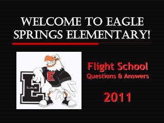 Welcome to EAGLE SPRINGS ELEMENTARY!