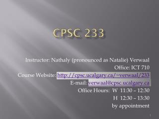 CPSC 233