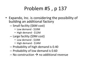 Problem #5, p 137