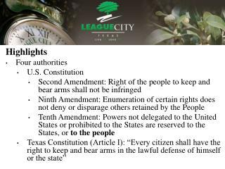 Highlights Four authorities U.S. Constitution