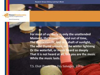 Research Group Lifelong Learning in Music