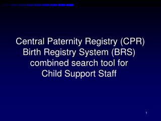 Paternity and Birth Information