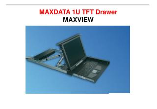 MAXDATA 1U TFT Drawer MAXVIEW