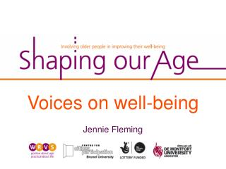 Voices on well-being Jennie  Fleming