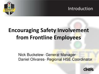Encouraging Safety Involvement from Frontline Employees