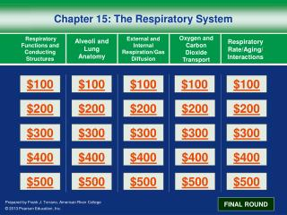 Chapter 15: The Respiratory System