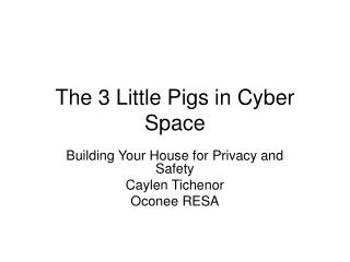 The 3 Little Pigs in Cyber Space