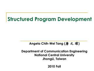 Structured Program Development