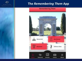 The  Remembering Them  App