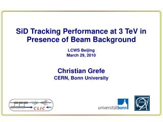 SiD  Tracking Performance at 3  TeV  in Presence of Beam Background