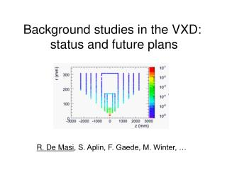 Background studies in the VXD:  status and future plans