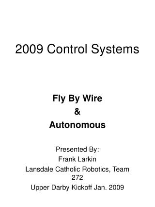 2009 Control Systems