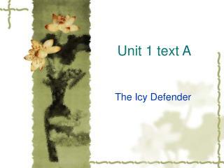 Unit 1 text A