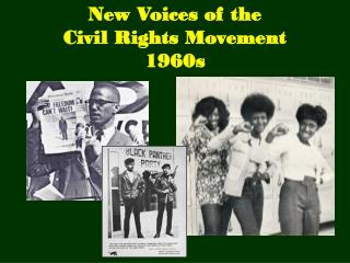 New Voices of the Civil Rights Movement 1960s