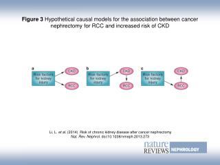 Li, L.  et al.  (2014)   Risk of chronic kidney disease after cancer nephrectomy